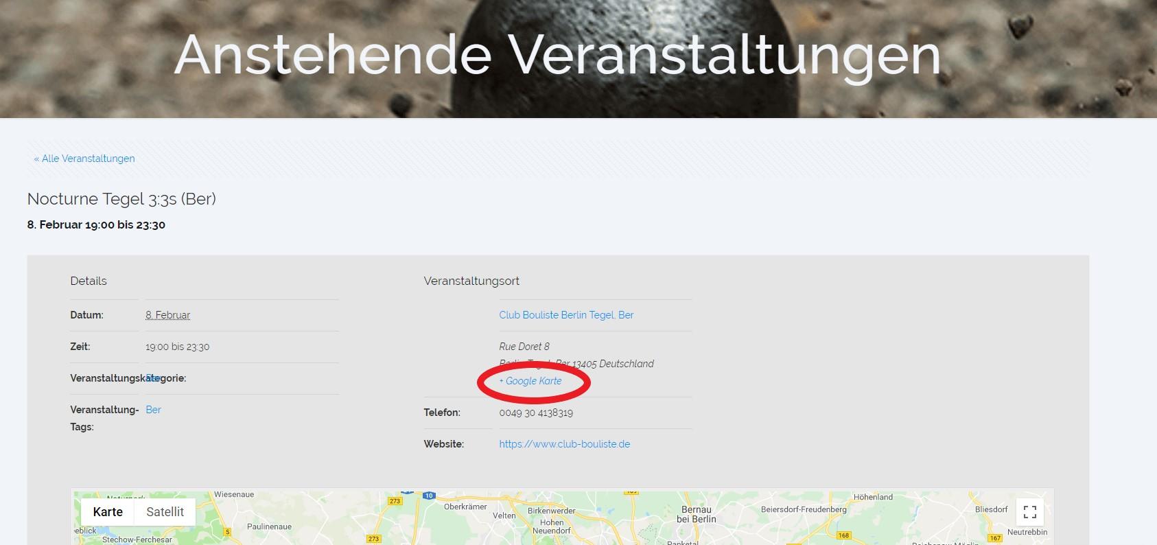 + Google Karte - Zeichen
